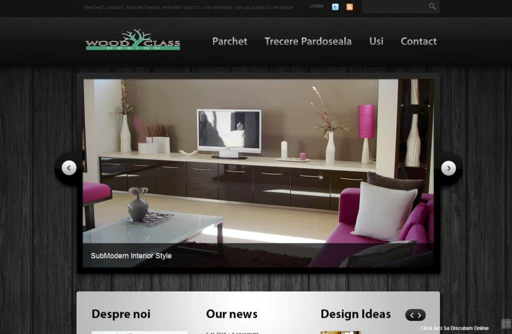 Site creare - site Wood Design