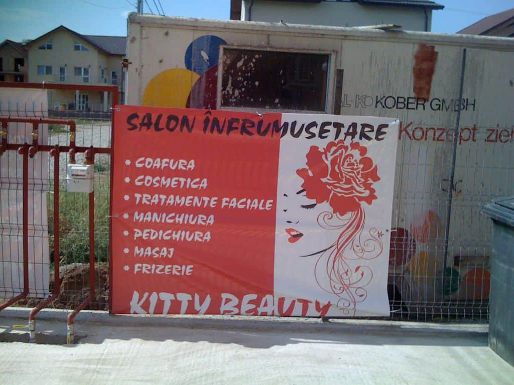Bannere print banner Kitty Beauty